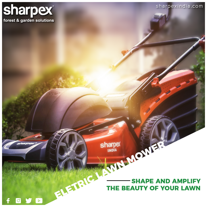 Looking for that perfect lawn mower that is tailored to fulfill your needs?  Then Sharpex Electric Lawn Mower is your perfect choice. It has an efficient cutter in which the blades spin vertically and use a scissoring action to cut the grass  #ElectricLawnMower #GardeningTools #ModernGardeningTools #GardeningProducts #GardenProduct #Sharpex #SharpexIndia