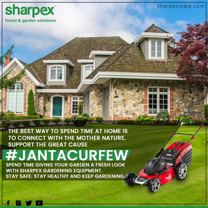 The best way to spend time at home is to connect with mother nature. Support the great cause #JantaCurfew spend time giving your garden a fresh look with Sharpex Gardening Community equipment. Stay safe. Stay healthy and keep gardening.   #IndiaFightsCorona #JantaCurfew #JantaCurfew2020 #Coronavirus #GardeningTools #ModernGardeningTools #GardeningProducts #GardenProduct #Sharpex #SharpexIndia