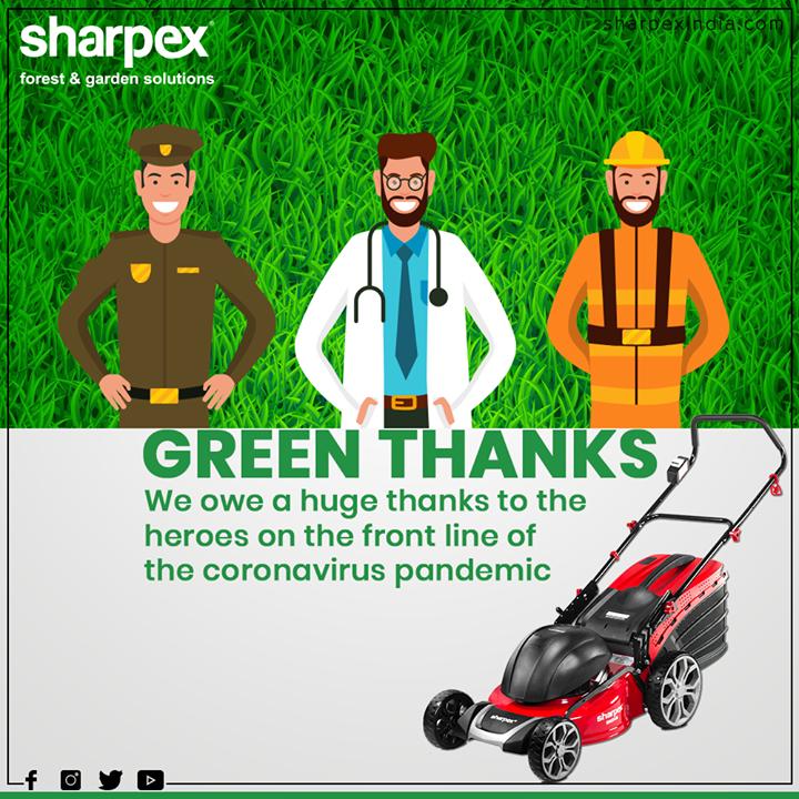 Green thanks from Sharpex Gardening Community!  #ThankYou #Salute #GreenSalute #StayIndoor #SocialDistancing #StayUnited #COVID19 #GardeningTools #ModernGardeningTools #GardeningProducts #GardenProduct #Sharpex #SharpexIndia