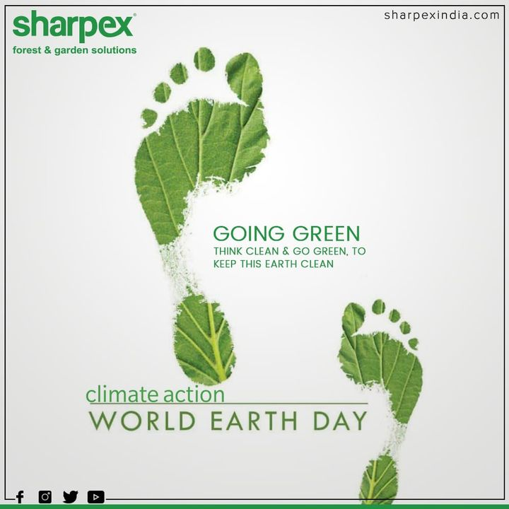 Going green think clean & go green, to keep this Earth clean  #WorldEarthDay #WorldEarthDay2020 #EarthDay #GardeningTools #ModernGardeningTools #GardeningProducts #GardenProduct #Sharpex #SharpexIndia