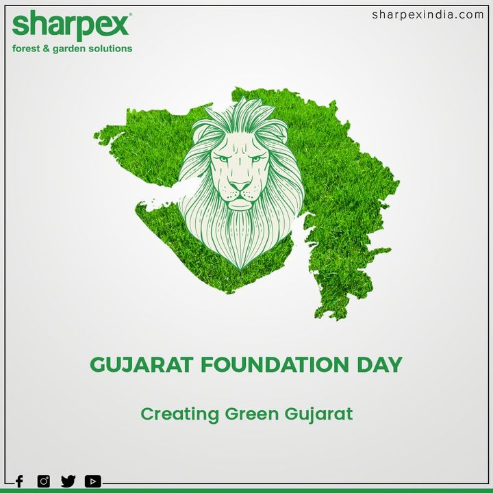 Creating Green Gujarat!  #HappyGujaratDay #GujaratDay #GujaratFoundationDay #GujaratDay2020 #GardeningTools #ModernGardeningTools #GardeningProducts #GardenProduct #Sharpex #SharpexIndia