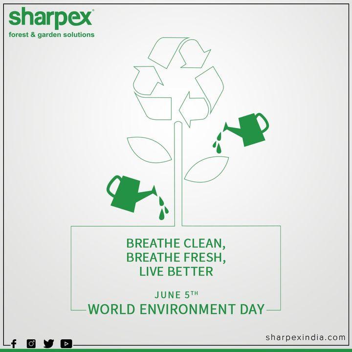 Breathe clean, breathe fresh, live better  #WorldEnvironmentDay #EnvironmentDay2020 #SaveEnvironment #GardeningTools #ModernGardeningTools #GardeningProducts #GardenProduct #Sharpex #SharpexIndia