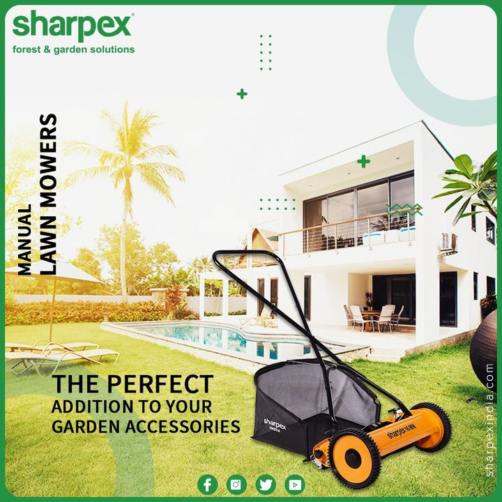The Sharpex Lawn Mower with Grass Catcher is the perfect addition to our garden accessories. This will help you to maintain and clean the garden area. It assists to cut the excess growth of the grass; it is lightweight, easy to operate with no maintenance. It is perfect for the small as well as big lawns.  #SharpexLawnMower #GardeningTools #ModernGardeningTools #GardeningProducts #GardenProduct #Sharpex #SharpexIndia