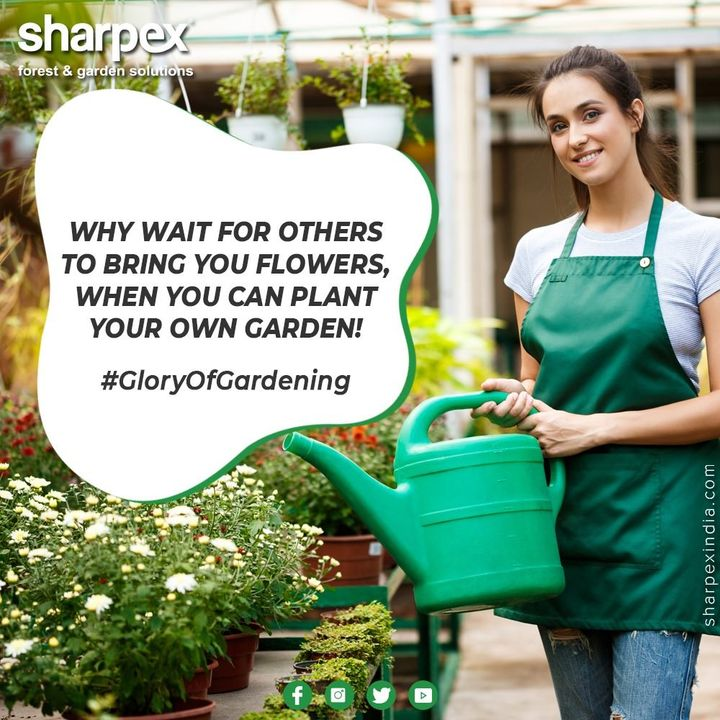 Why wait for others to bring you flowers, when you can plant your own garden! Explore the glory of gardening all by yourself with enthusiasm and a wide range of our products.   #ExploreTheGloryOfGardening #GardeningTools #ModernGardeningTools #GardeningProducts #GardenProduct #Sharpex #sharpexindia
