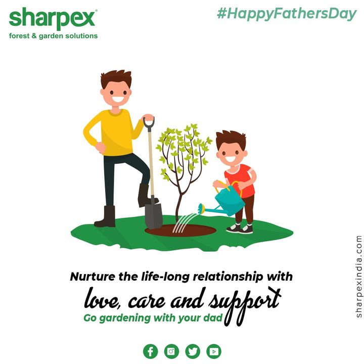 Nurture the life-long relationship with love, care and support.  #HappyFathersDay #FathersDay #FathersDay2020 #DAD #Father #GardeningTools #ModernGardeningTools #GardeningProducts #GardenProduct #Sharpex #sharpexindia