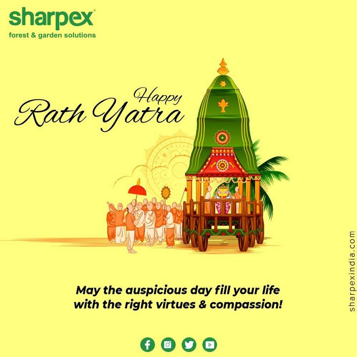 May the auspicious day fill your life with the right virtues & compassion!  #RathYatra #RathYatra2020 #JagannathRathYatra  #GardeningTools #ModernGardeningTools #GardeningProducts #GardenProduct #Sharpex #sharpexindia