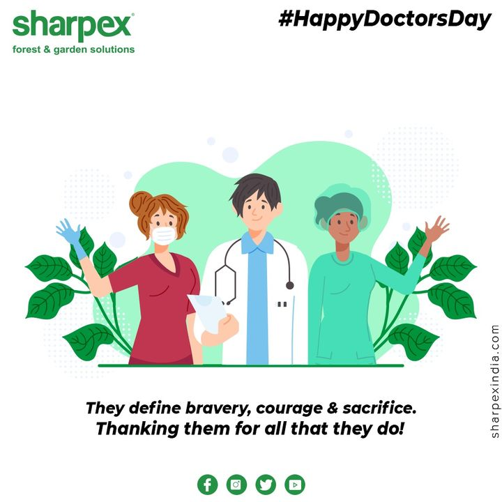 They define bravery, courage & sacrifice. Thanking them for all that they do!  #DoctorsDay #NationalDoctorsDay #Doctorsday2020 #HappyDoctorsDay #GardeningTools #ModernGardeningTools #GardeningProducts #GardenProduct #Sharpex #sharpexindia