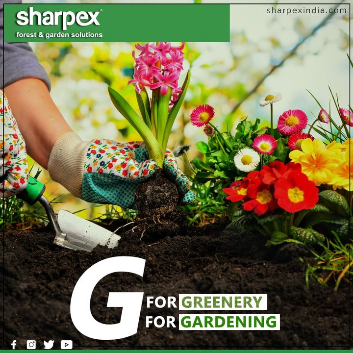 Greenery is gorgeous & gardening is an instrument of grace! Go for gardening & let your gracious garden do the talking.  #GardeningTools #ModernGardeningTools #GardeningProducts #GardenProduct #SharpexIndia