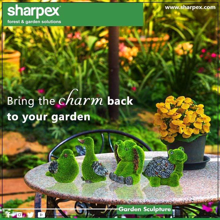 Add more aesthetic look to your garden or home decor. Place them on a patch of grass or stone table to make it look even more impressive  #GardeningTools #ModernGardeningTools #GardeningProducts #GardenProduct #SharpexIndia