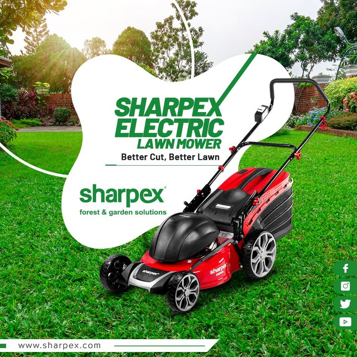Sharpex Engineering,  SharpexElectricLawnMower, Sharpex, ElectricLawnMower, LawnMower, GardeningTools, ModernGardeningTools, GardeningProducts, GardenProduct, SharpexIndia