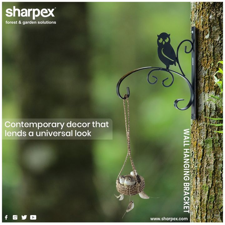 This surprising and aesthetically brackets are available in a different style. These brackets make a stylish addition to any interior & exterior.  #Sharpex #GardeningTools #ModernGardeningTools #GardeningProducts #GardenProduct #SharpexIndia