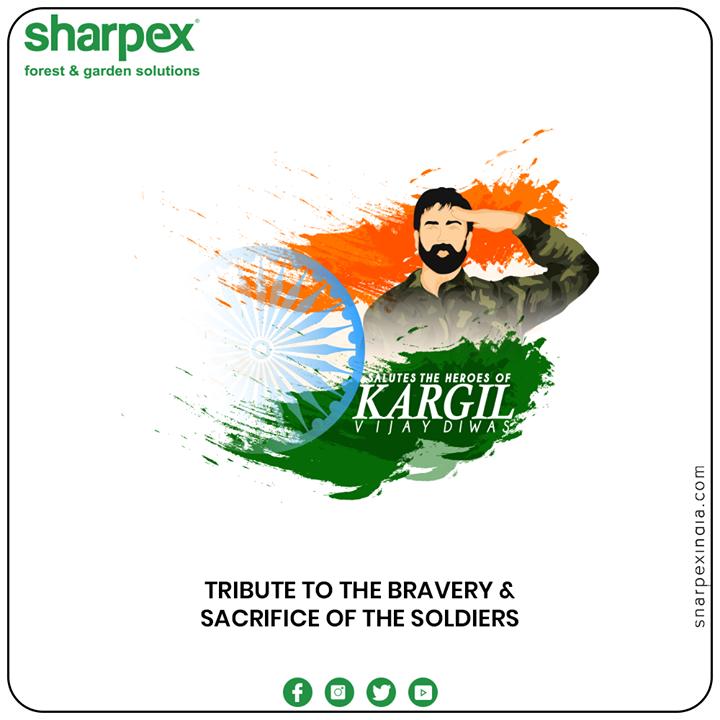 Tribute to the bravery & sacrifice of the soldiers.  #KargilVijayDiwas #KargilVijayDiwas2020 #JaiHind #IndianArmy #RememberingKargil #GardeningTools #ModernGardeningTools #GardeningProducts #GardenProduct #Sharpex #sharpexindia