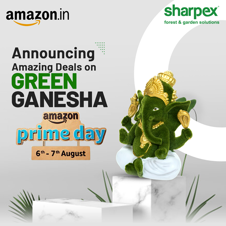 Beautiful Green Ganesha from Sharpex is Now Available on amazon.in. Bring home the God of new beginnings on Amazon Prime Day,  6th & 7th August to get benefit of the amazing deals  #GardeningTools #ModernGardeningTools #GardeningProducts #GardenProduct #Sharpex #SharpexIndia #AmazonPrimeDay #Sale #Discount #Amazon #DiscoverJoy #AmazonSale #PrimeDay #primedaysellers #PrimeSale