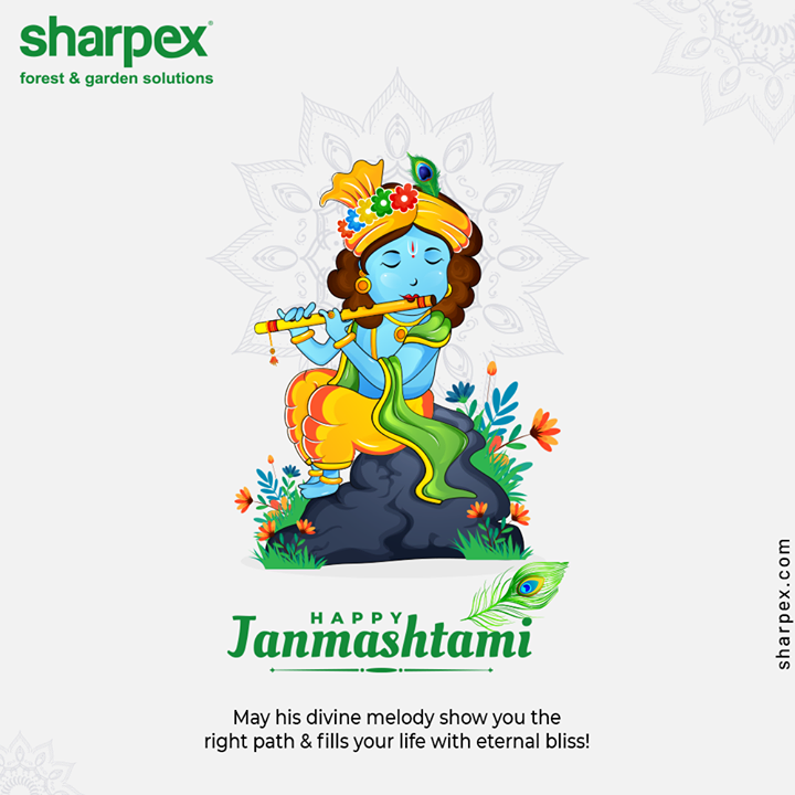 May his divine melody show you the right path and fills your life with eternal bliss.  #HappyJanmashtami #KrishnaJanmashtami2020 #Janmashtami2020 #LordKrishna #Janmashtami #GardeningTips #GardeningTools #ModernGardeningTools #GardeningProducts #GardenProduct #Sharpex #SharpexIndia