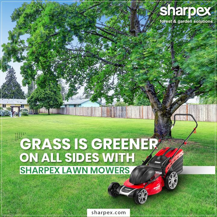 Sharpex Lawnmowers are lightweight and provide ease of use for the better gardening experience.  #Lawnmowers #GardeningTools #ModernGardeningTools #GardeningProducts #GardenProduct #Sharpex #SharpexIndia