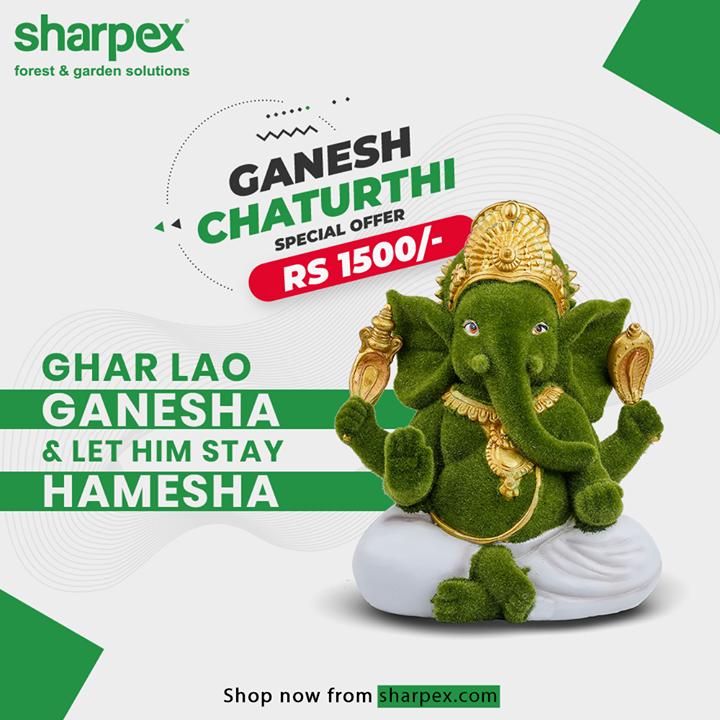 Sharpex Engineering,  GreenGanesha, GaneshaIdol, GaneshChaturthiOffer, GaneshChaturthi, ModernGardeningTools, GardeningProducts, GardenProduct, Sharpex, SharpexIndia