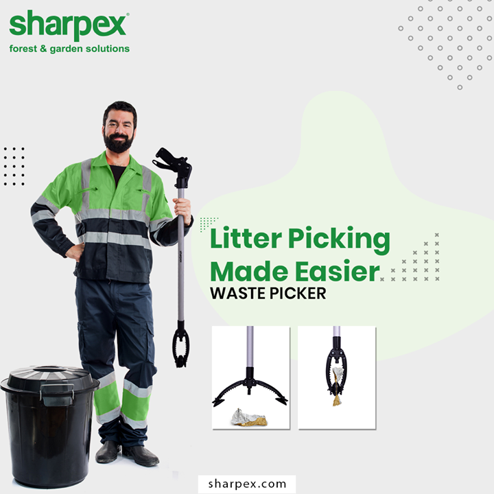 With this heavy-duty litter cleaner, your backyard or lawn and other areas of the property can be cleaned faster and hassle-free.  #GardeningTools #WastePicker #ModernGardeningTools #GardeningProducts #GardenProduct #Sharpex #SharpexIndia
