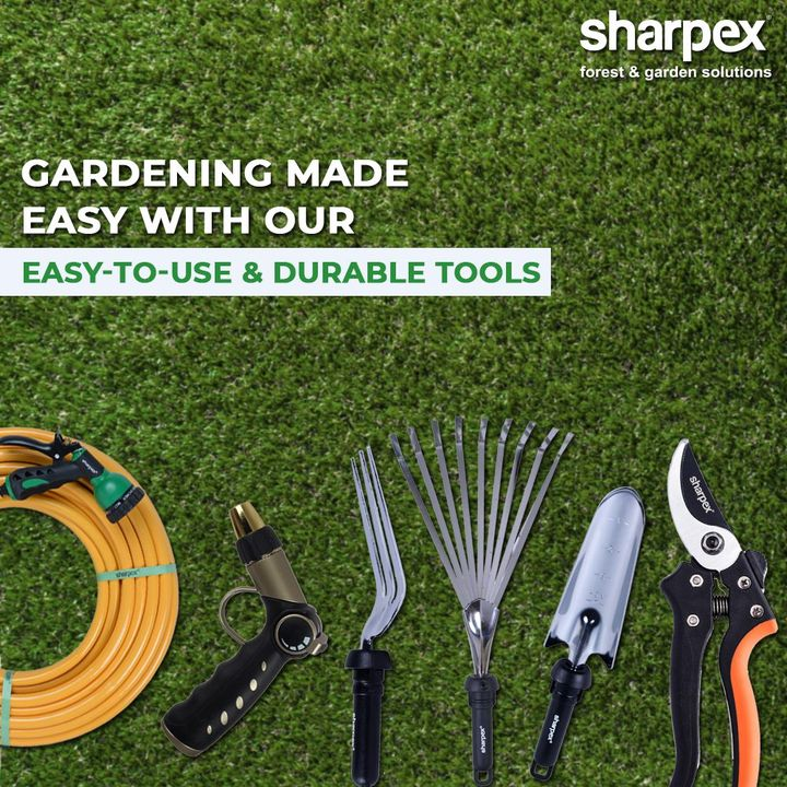 Our gardening tools are easy-to-use and highly durable to make your gardening experience convenient and easy!  #GardeningTools #ModernGardeningTools #GardeningProducts #GardenProduct #Sharpex #SharpexIndia