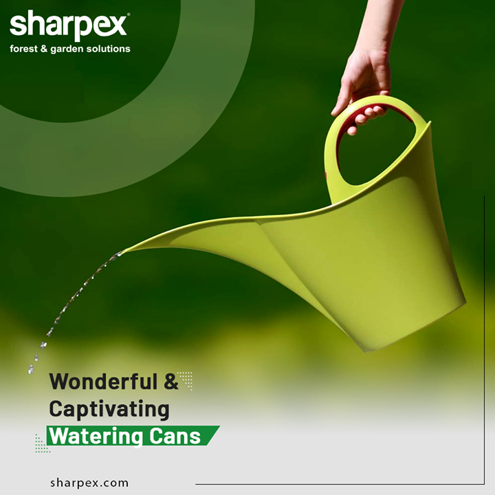 Watering cans are in use for ages because they can be the perfect companion for watering the delicate flowering plants. The wonderful and captivating watering cans offer a gentle sprinkle ensuring that the plants are fed right but without getting harmed.   #GardeningTools #ModernGardeningTools #GardeningProducts #GardenProduct #Sharpex #SharpexIndia