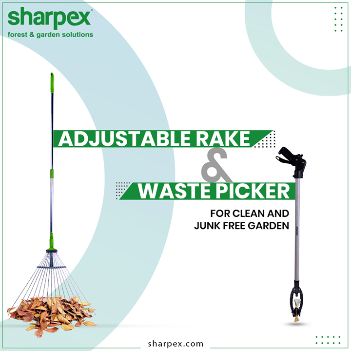 Yard work is tough and time-taking unless you take up the right gardening tools. Tackle the job of cleaning more easily and have a clean and junk-free garden.  #GardeningTools #ModernGardeningTools #GardeningProducts #GardenProduct #Sharpex #SharpexIndia