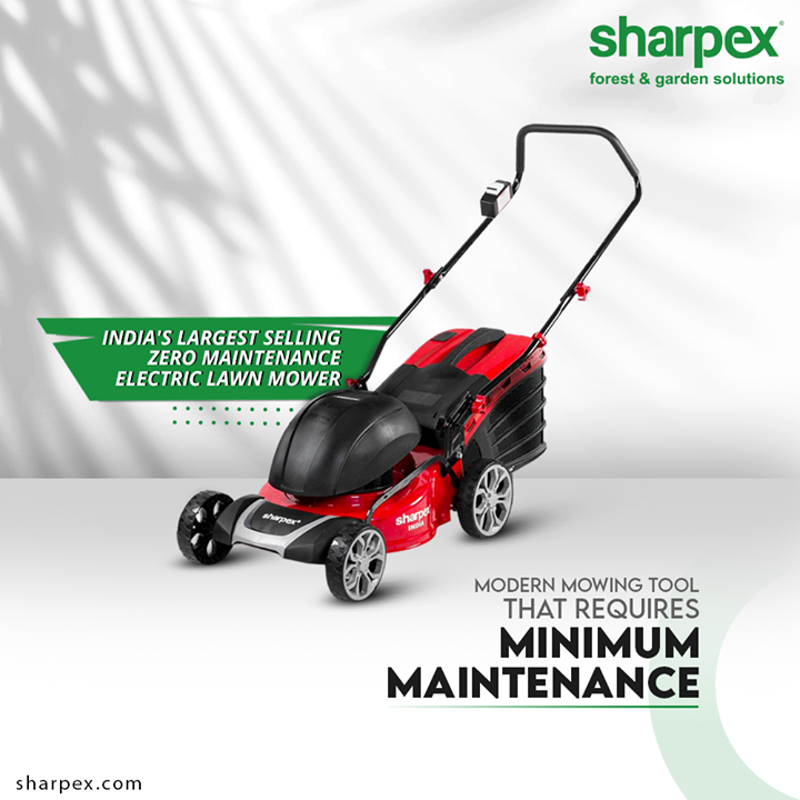 Sharpex Electric Lawn Mower is India's largest selling zero maintainance #ElectricLawnMower! Keep mowing like a pro with the modern tool of the age.  #GardeningTools #ModernGardeningTools #GardeningProducts #GardenProduct #Sharpex #SharpexIndia