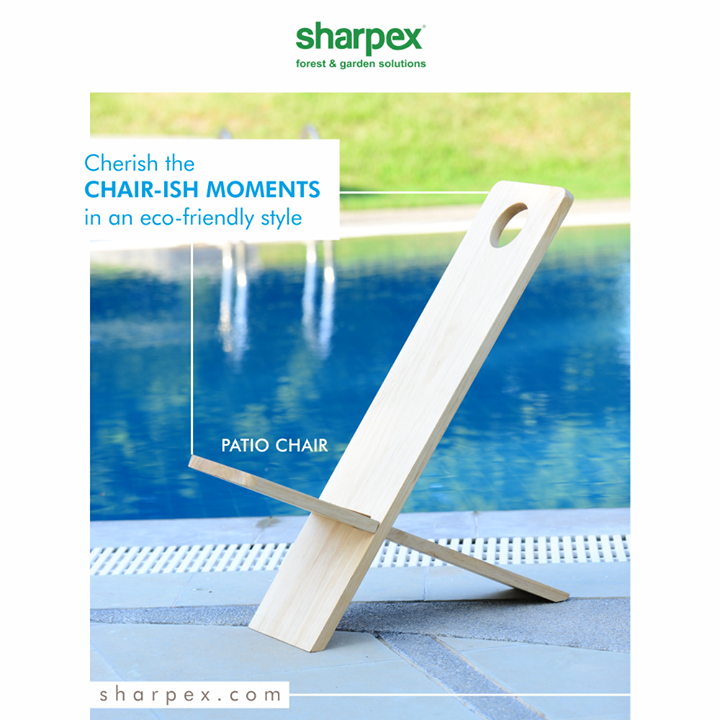 The eco-chair from Sharpex Gardening Community offers the perfect blend of comfort and sophistication.  Cherish the chair-ish moments in an eco-friendly style!  #EcoFriendlyChair #ChairishMoments #EcoChairs #GardeningTools #ModernGardeningTools #GardeningProducts #GardenProduct #Sharpex #SharpexIndia