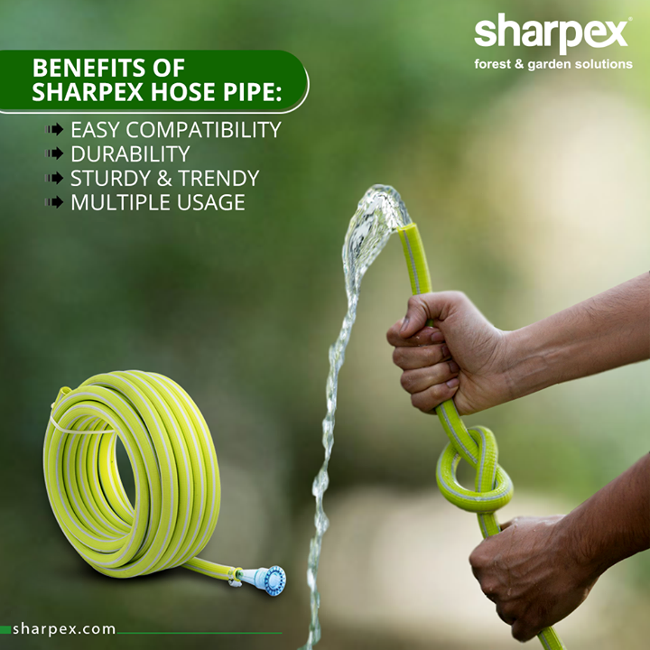 Garden hose pipe is an essential tool for both gardening and maintaining outdoor space.  Wondering why to buy the hose pipe from Sharpex Gardening Community?  They are durable, compatible, sturdy & trendy offering value for money.  #HosePipe #GardeningTools #ModernGardeningTools #GardeningProducts #GardenProduct #Sharpex #SharpexIndia