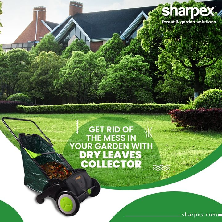 The dried leaves can be composted and used as organic fertilizers but they definitely do not look good fallen on the floors. Get rid of the mess in a classy way with help of the dry leaves collector.  #JoyOfGardening #GardeningTools #ModernGardeningTools #GardeningProducts #GardenProduct #Sharpex #SharpexIndia