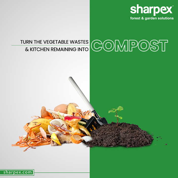 A little consciousness can go a long way in preserving nature! Turn the vegetable wastes & kitchen remaining into Compost for your plants.  #KitchenCompost #RecycleReuse #GardeningTools #ModernGardeningTools #GardeningProducts #GardenProduct #Sharpex #SharpexIndia