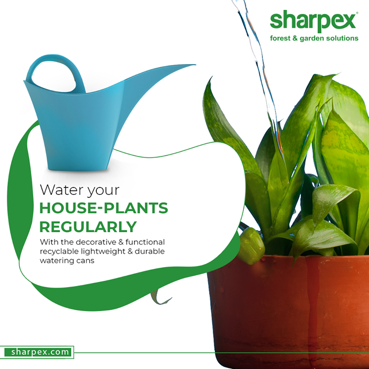 Give your house-plants a refreshing shower with the decorative & functional, recyclable, lightweight & durable watering cans from #SharpexGardeningCommunity.  #ModernGardeningTools #GardeningProducts #GardenProducts #Sharpex #SharpexIndia
