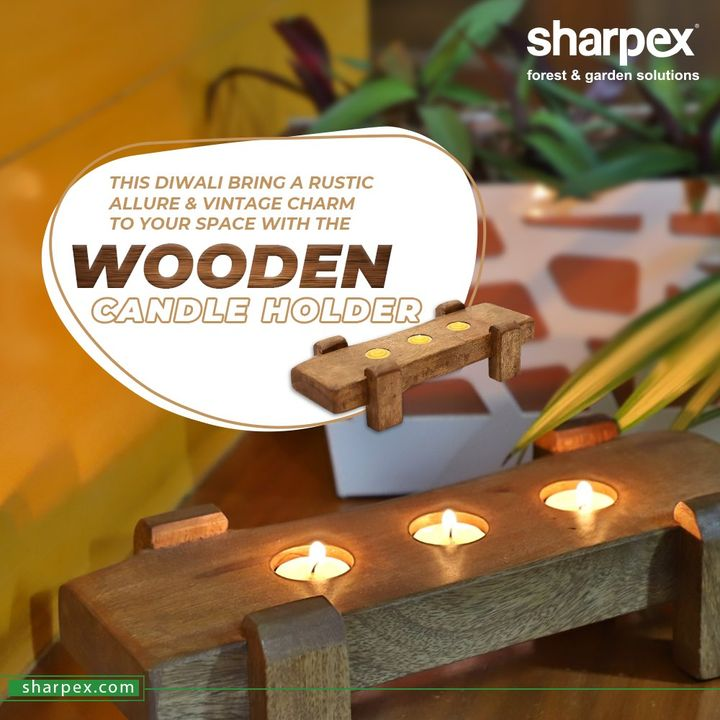 Wonderful wooden candle holder will help to bring a rustic allure & vintage charm to your space.   Buy the one that clicks your eye and you can gift them to your special ones too.  #WoodenCandleHolder #CandleLovers #DiwaliGifts #DiwaliGiftIdeas #GardeningTools #ModernGardeningTools #GardeningProducts #GardenProduct #Sharpex #SharpexIndia