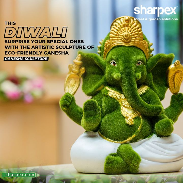 This Diwali surprise your special ones with the artistic sculpture of Eco-friendly Ganesha  Develop a re-defined taste for gifting and this Diwali surprise your special ones with the artistic sculpture of Eco-friendly Ganesha from #Sharpex.  #ModernGardeningTools #GardeningProducts #GardenProduct #Sharpex #SharpexIndia