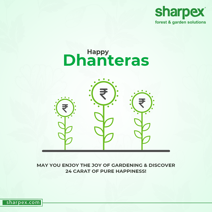 May you enjoy the joy of Gardening & Discover 24 carat of pure happiness!  #Dhanteras #Dhanteras2020 #ShubhDhanteras #IndianFestivals #DiwaliIsHere #Celebration #HappyDhanteras #FestiveSeason #GardeningTools #ModernGardeningTools #GardeningProducts #GardenProduct #Sharpex #SharpexIndia
