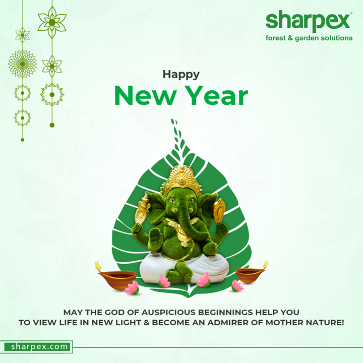 May the God of auspicious beginnings help you to view life in new light & become an admirer of Mother Nature!  #HappyNewYear #NewYear #SaalMubarakh #IndianFestivals #Celebration #HappyDiwali #FestiveSeason #GardeningTools #ModernGardeningTools #GardeningProducts #GardenProduct #Sharpex #SharpexIndia