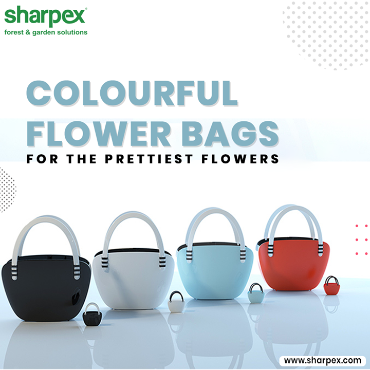 The Colourful Flower Bags from Sharpex Gardening Community will help you to place the prettiest flowers in the perfect manner in your own home at the desk, bookshelf, dining table, living room, hosting room and almost everywhere.  #GardeningTools #ModernGardeningTools #GardeningProducts #GardenProduct #Sharpex #SharpexIndia