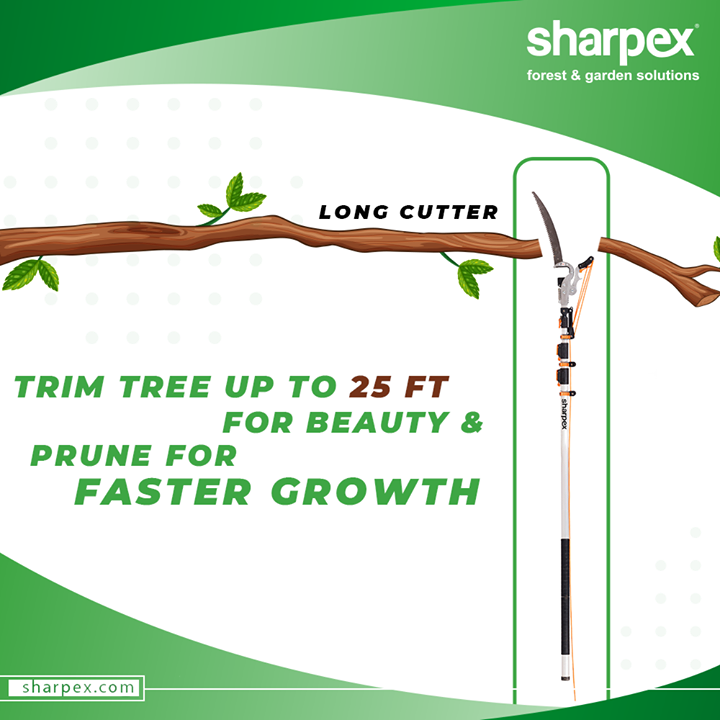 The crisp edges between beds, lawn, and hardscape make a big difference between an ordinary garden and an extra-ordinary one.  Be a professional gardener and whip your garden into shape with the professional gardening tools from #Sharpex.  #LongCutter #GardeningTools #ModernGardeningTools #GardeningProducts #GardenProduct #Sharpex #SharpexIndia