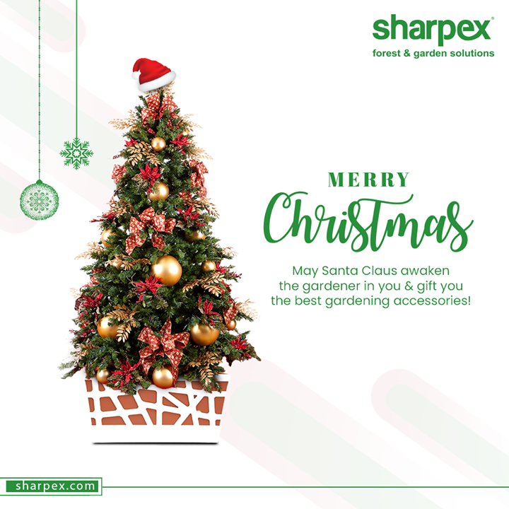 May Santa Claus awaken the gardener in you & gift you the best gardening accessories!   #Christmas #MerryChristmas #Christmas2020 #Festival #SharpexSolutions #GardeningSolutions #ModernGardeningTools #GardeningProducts  #GardenProduct #Sharpex #SharpexIndia