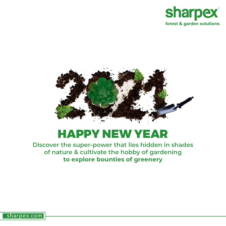 Discover the super-power that lies hidden in shades of nature & cultivate the hobby of gardening to explore bounties of greenery  Happy New Year!  #HappyNewYear #NewYear2021 #ByeBye2020 #NewYear #Celebration #Love #Happy #Cheers #Joy #Happiness #SharpexSolutions #GardeningSolutions #ModernGardeningTools #GardeningProducts #GardenProduct #Sharpex #SharpexIndia