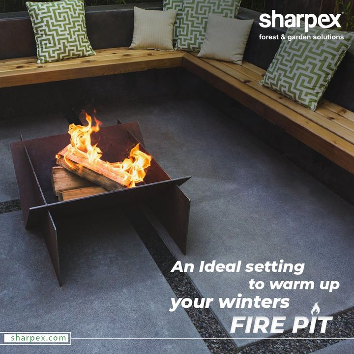 Winters ask for cozy settings and a bonfire!  Bring hope Sharpex's Fire Pit and make hanging with your friends and family more fun. The DIY Fire Pit is purposeful and practical as well as adds ambience and style to your life.   #FirePit #Bonfire #BeAGardener #GardenLovers #GardeningAccessories #GardeningTools #ModernGardeningTools #GardeningProducts #GardenProduct #Sharpex #SharpexIndia