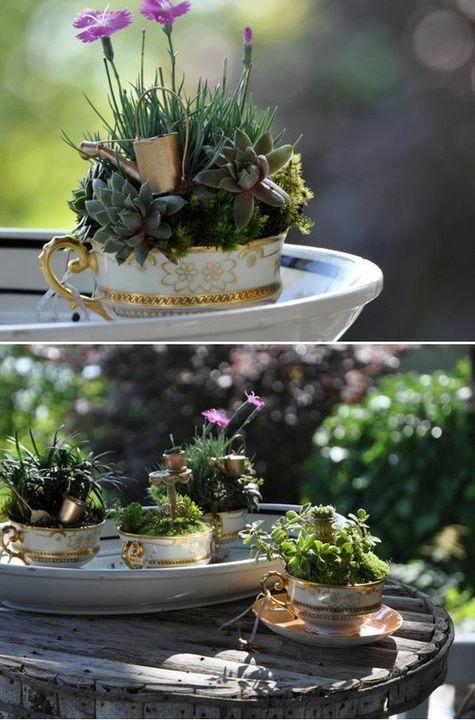 Create a tea party in your garden