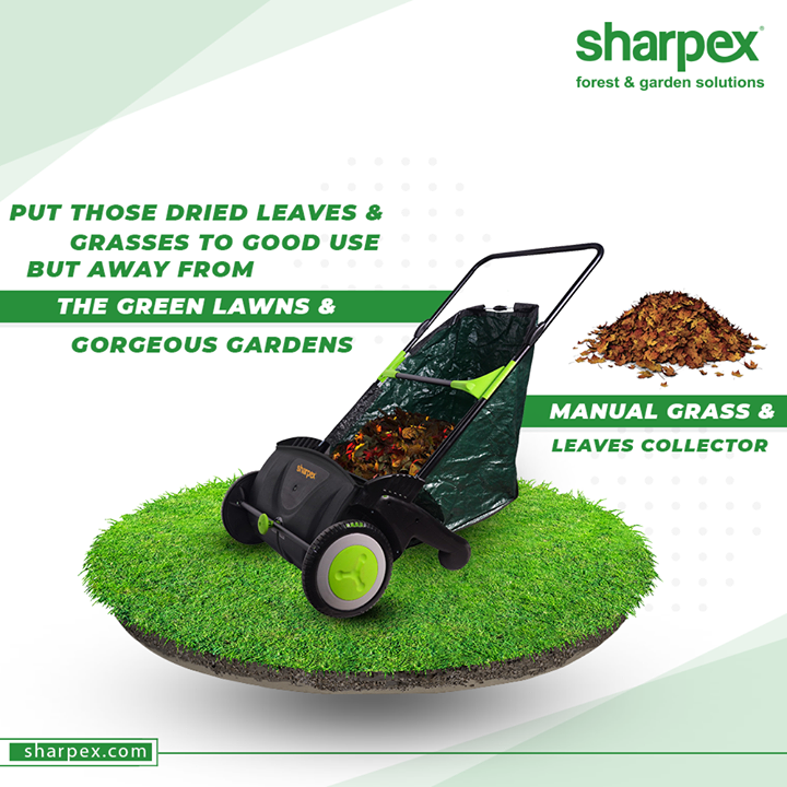 Raking the fallen leaves and dried grasses will no more be a hectic chore for you. Put those dried leaves & grasses to good use but away from the green lawns & gorgeous gardens with ease.  #GardeningAccessories #GardeningTools #ModernGardeningTools #GardeningProducts #GardenProduct #Sharpex #SharpexIndia