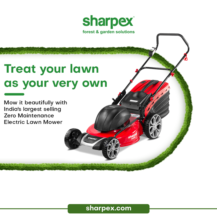 Sharpex Engineering,  LoveForGreen, LoveForGreenery, GoGreen, GreenFebruary, GardenersByPassion, ElectricLawnMower, GardeningAccessories, GardeningTools, ModernGardeningTools, GardeningProducts, GardenProducts, Sharpex, SharpexIndia
