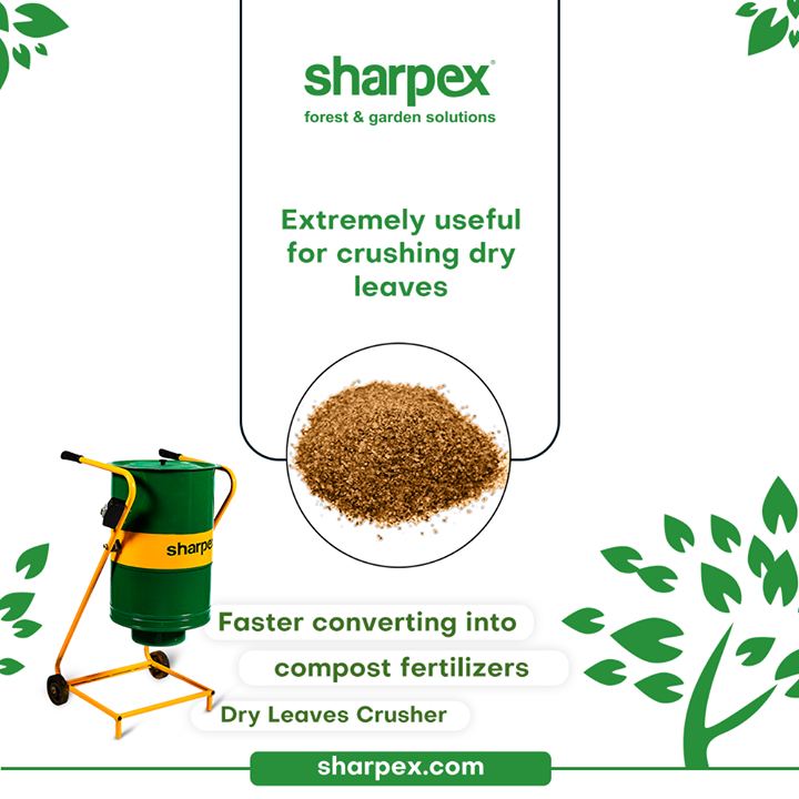 The one of its kind Dry leaves crusher is extremely user-friendly. It is very easy and convenient to use.  This modern gardening accessory from #SharpexGardeningAndCommunity can be effectively used to crush dry leaves, converting them into farm friendly manures and compost fertilizers.  #LoveForGreen #LoveForGreenery #GoGreen #GreenFebruary #GardenersByPassion #GardeningAccessories #GardeningTools #ModernGardeningTools #GardeningProducts #GardenProducts #Sharpex #SharpexIndia