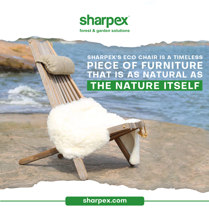 Bringing style and comfort into any space, this Eco Chair will let you relax and repose. Basking in the glory of Sun and reveling into the serenity of your garden will become an every-day affair.  #EcoChair #GardeningAccessories #GardeningTools #ModernGardeningTools #GardeningProducts #GardenProducts #Sharpex #SharpexIndia