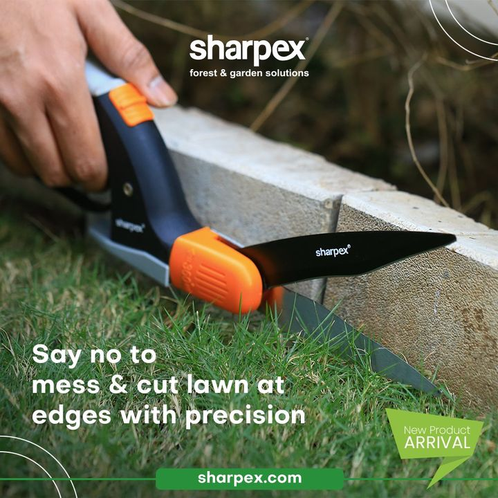 Say NO to mess and cut lawn at the edges with the sheer precision of our newly introduced grass shear.  #GrassShear #CreativeGardeningAccessory #GardeningAccessories #GardeningTools #ModernGardeningTools #GardeningProducts #GardenProducts #Sharpex #SharpexIndia