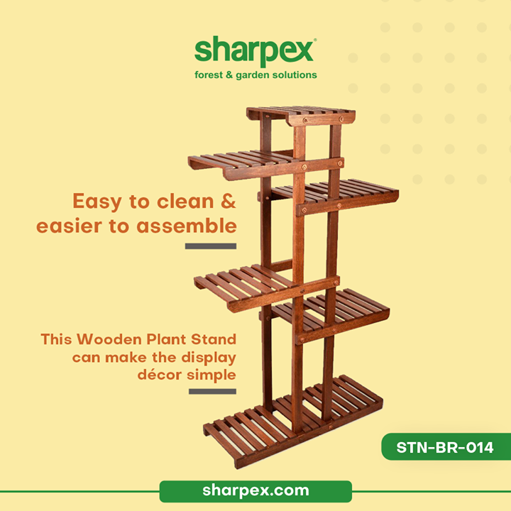Easy to clean and easier to assemble, this wooden plant stand is potent enough to make your display décor simple.   Up the game of your garden décor with the extensive range of modern gardening tools from Sharpex Gardening Community   #WoodPlantStand #CreativeGardeningAccessory #GardeningAccessories #GardeningTools #ModernGardeningTools #GardeningProducts #GardenProducts #Sharpex #SharpexIndia