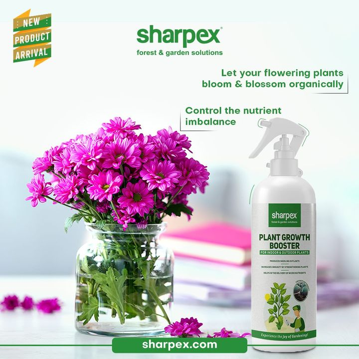 This newly launched product; plant growth booster from Sharpex Gardening Community is exclusively designed for the flower lovers who wish to offer the best to their flowering plants.   Let your flowering plants bloom & blossom by controlling and maintaining their nutrient balance efficiently with this plant growth booster from Sharpex Gardening Community.  #PlantGrowthBooster #CreativeGardeningAccessory #GardeningAccessories #GardeningTools #ModernGardeningTools #GardeningProducts #GardenProducts #Sharpex #SharpexIndia
