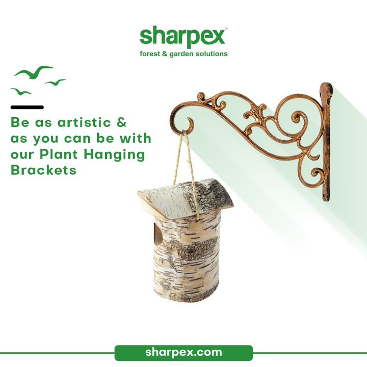 Have you heard of the contemporary gardening accessory called as plant brackets?   They are elegant and ideal for indoors as well as outdoor settings. Be as artistic & as creative as you can be with our sturdy & durable plant brackets.  #PlantBrackets #CreativeGardeningAccessory #GardeningAccessories #GardeningTools #ModernGardeningTools #GardeningProducts #GardenProducts #Sharpex #SharpexIndia