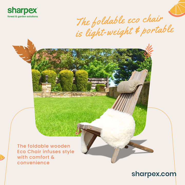 Elevate the joy of sitting for hours in an extraordinary way.  Take a look at the foldable eco-chair from Sharpex Gardening And Community that is light-weight and portable. Bring home this environment friendly edition that seamlessly infuses comfort and convenience.  #EcoChair #GardeningAccessories #GardeningTools #ModernGardeningTools #GardeningProducts #GardenProducts #Sharpex #SharpexIndia