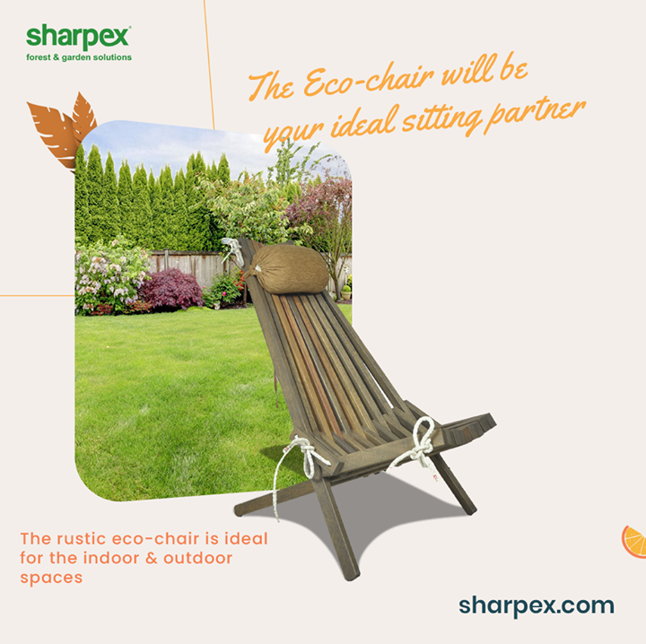 If you are looking for an ideal sitting partner then think no more and consider your search over with this rustic eco-friendly chair from Sharpex Gardening Community.  This sleek and suave edition will elevate the comfort of your sitting in a seamless manner.  #EcoChair #GardeningAccessories #GardeningTools #ModernGardeningTools #GardeningProducts #GardenProducts #Sharpex #SharpexIndia